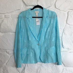 Chico's Aqua light weight jacket